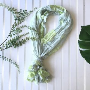 American Eagle spring scarf accent green mint lime